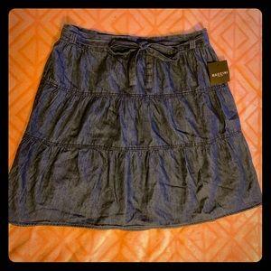 BACCINI NYC Tiered Denim Skirt 14P
